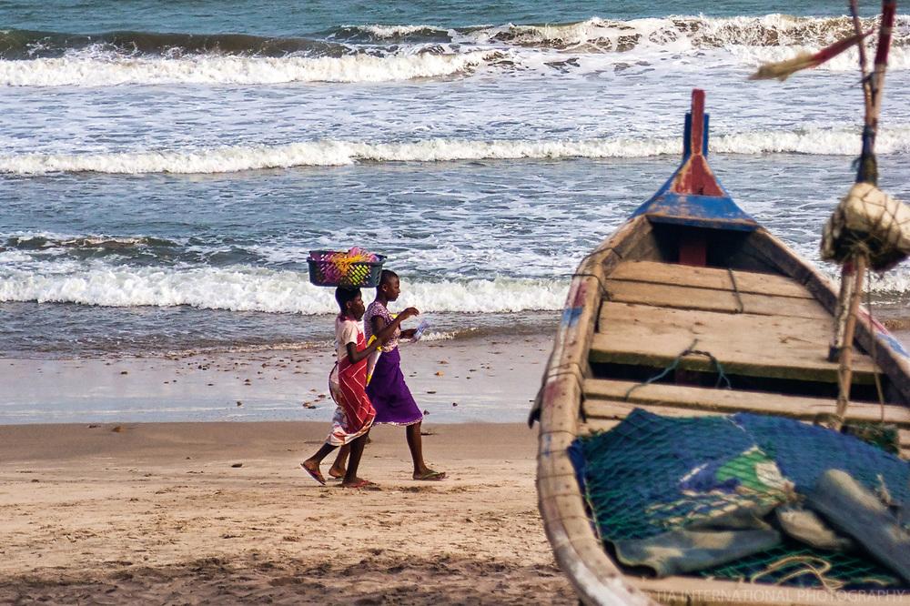 Girls Walking along the Beach, Kokrobite