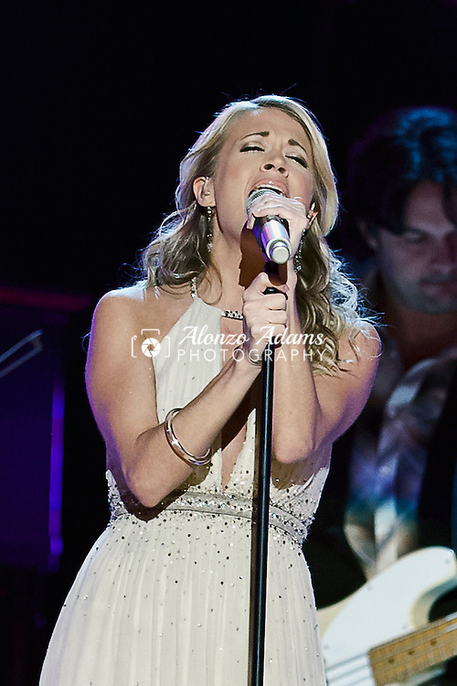 Carrie Underwood performs during the Oklahoma Centennial Spectacular inside the Ford Center in Oklahoma City on Friday, Nov. 16, 2007.  (Photo copyright © 2007 Alonzo J. Adams)