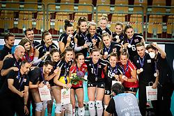 Team of Austria after volleyball match between Bosnia & Herzegovina and Austria in CEV Volleyball European Silver League 2021, on 12 of June, 2021 in Dvorana Ljudski Vrt, Maribor, Slovenia. Photo by Blaž Weindorfer / Sportida