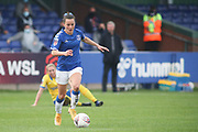 Everton Midfielder Hayley Raso (16) comes away with the ball  during the FA Women's Super League match between Everton Women and Brighton and Hove Albion Women at the Select Security Stadium, Halton, United Kingdom on 18 October 2020.