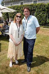 LADY STEWART and JAMES MARTIN at the Cartier 'Style et Luxe' part of the Goodwood Festival of Speed, Goodwood House, West Sussex on 14th July 2013.