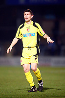 Michael Cummins of Rotherham United Wycombe Wanderers Vs Rotherham  United at Adams Park High Wycombe  Football League Div 2<br /> 23/02/2009. Credit Colorsport  / Kieran Galvin