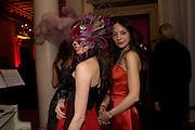 OLIMPIA BORTOLOTTO POSSATI; MARIA CHICHILIA.  Alessandro and Olimpia host Carnevale 2009. Venetian Red Passion. Palazzo Mocenigo. Venice. February 14 2009.  *** Local Caption *** -DO NOT ARCHIVE -Copyright Photograph by Dafydd Jones. 248 Clapham Rd. London SW9 0PZ. Tel 0207 820 0771. www.dafjones.com<br /> OLIMPIA BORTOLOTTO POSSATI; MARIA CHICHILIA.  Alessandro and Olimpia host Carnevale 2009. Venetian Red Passion. Palazzo Mocenigo. Venice. February 14 2009.