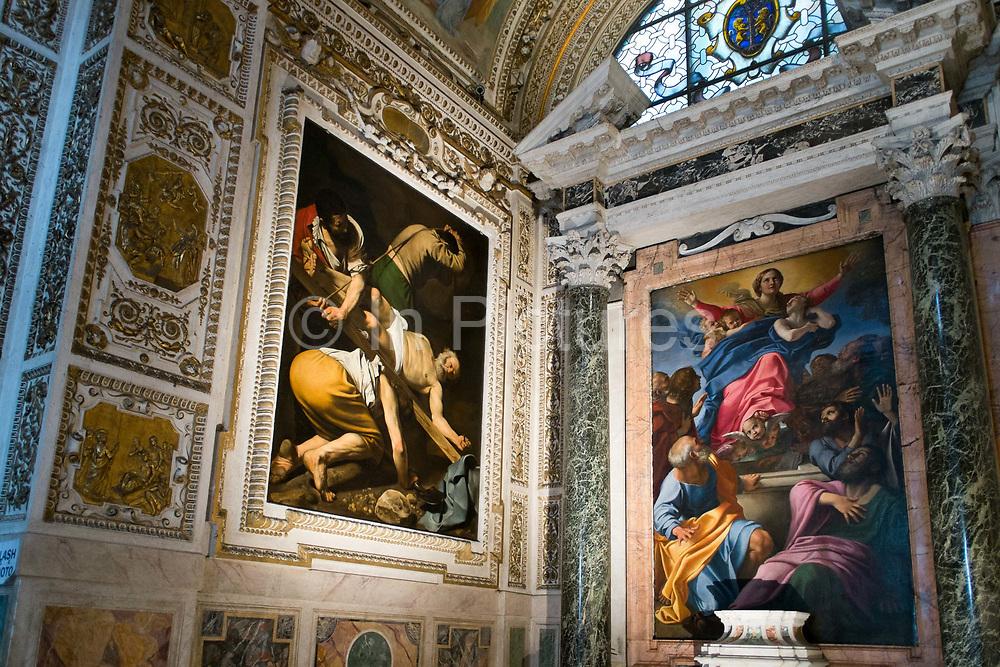 Caravaggios in Santa Maria do Popolo, Rome, Italy.