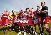 Photo: Steve Bond.<br />Scunthorpe United v Carlisle United. Coca Cola League 1. 05/05/2007. Scunthorpe United, Division 1 champions