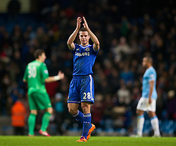 15.02.2014, Etihad Stadion, Manchester, ESP, FA Cup, Manchester City vs FC Chelsea, Achtelfinale, im Bild Chelsea's Cesar Azpilicueta looks dejected as his side lose 2-0 to Manchester City // during the English FA Cup Round of last 16 Match between Manchester City and FC Chelsea at the Etihad Stadion in Manchester, Great Britain on 2014/02/15. EXPA Pictures © 2014, PhotoCredit: EXPA/ Propagandaphoto/ David Rawcliffe<br /> <br /> *****ATTENTION - OUT of ENG, GBR*****