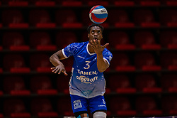 Jerome Cross of Lycurgus in action during the semi cupfinal between Active Living Orion vs. Amysoft Lycurgus on April 03, 2021 in Saza Topsportshall Doetinchem