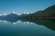 Abstract vertical view of Lake McDonald