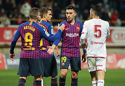 October 31, 2018 - Leon, Leon, Spain - Players of Barcelona in action during the King Spanish championship, , football match between Cultural Leonesa and Barcelona, October 31, in Reino de Leon Stadium in Leon, Spain. (Credit Image: © AFP7 via ZUMA Wire)