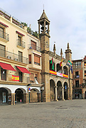 Ayuntamiento town hall historic buildings Plaza Mayor, Plasencia, Caceres province, Extremadura, Spain