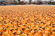 10,000 plus rubber ducks are poured into Bayou St. John for the Duck Derby, benefitting Second Harvest Food Bank of Greater New Orleans & Acadiana on May 19, 2013.