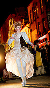 25/10/2015  Vicky McCormack in the Macnas parade on the streets of Galway.<br />  'The Shadow Lighter' featured the new Macnas character of Danu – a 15 ft high wild woman, the shadow lighter mistress of old stories, magic and medicine. Alongside her walked Danu's spirit animal, The Wolf of Danu, a beautiful, strong and fierce wolf, circling around Danu to protect her.  <br /> <br /> DUBLIN MONDAY NIGHT.<br /> Macnas will close the Bram Stoker Festival at twilight on Monday 26th October. In what is set to be another breath-taking citywide procession, Dublin's city streets will transform as the journey of Danu takes place, beginning in 3 city centre locations at 5.30pm with a final gathering in Wolfe Tone Square. This is a deadly adventure given life on the streets of Dublin.  Procession routes will be available to see and download from bramstokerfestival.com .Photo:Andrew Downes, xposure