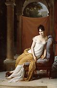 Juliette Recamier' (1777-1849), 1805.  Francois Baron Gerard (1770-1837) French painter.  Oil on Canvas.
