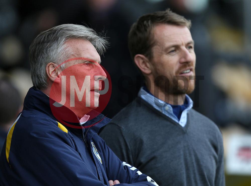 Bristol Rovers Manager, John Ward talks to Burton manager Gary Rowett- Photo mandatory by-line: Matt Bunn/JMP - Tel: Mobile: 07966 386802 23/11/2013 - SPORT - Football - Burton - Pirelli Stadium - Burton Albion v Bristol Rovers - Sky Bet League Two