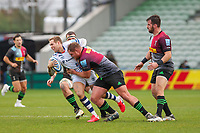 Rugby Union - 2020 / 2021 Gallagher Premiership - Round 4 - Harlequins vs Bristol Bears  - The Stoop<br /> <br /> Max Malins, of Bristol Bears,  tackled by Will Evans, of Harlequins, <br /> <br /> COLORSPORT/DANIEL BEARHAM