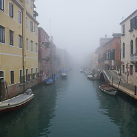 VENICE, ITALY - NOVEMBER 19:  A  general view of one of the canals in Cannaregio area as thick fog shrouds the city, on November 19, 2011 in Venice, Italy. Venice woke up this morning under a heavy blanket of fog adding to the atmoshere of the city. HOW TO LICENCE THIS PICTURE: please contact us via e-mail at sales@xianpix.com or call our offices London   +44 (0)207 1939846 for prices and terms of copyright. First Use Only ,Editorial Use Only, All repros payable, No Archiving.© MARCO SECCHI