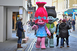 © Licensed to London News Pictures. 19/11/2017. London, UK.  Popular toy characters prepare to take part in Hamleys' annual Toy Parade in Regent Street along with marching bands and toy vehicles.  Photo credit: Stephen Chung/LNP