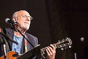 Peter Yarrow, founder of the revival group Peter, Paul and Mary, performing at the Folk City benefit concert. The concert was held to support a forthcoming exhibit on the folk msusic revival in New York in the 1950s and 60s.