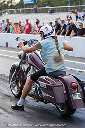 Bean're drag racing at the track Friday afternoon during the Smokeout. Rockingham, NC. USA. June 19, 2015.  Photography ©2015 Michael Lichter.