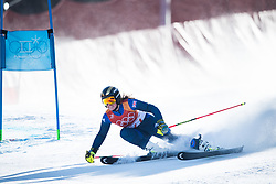 February 15, 2018 - Pyeongchang, South Korea - ALEX TILLEY of Great Britain on her first run at the Womens Giant Slalom event Thursday, February 15, 2018 at the Yongpyang Alpine Centerl at the Pyeongchang Winter Olympic Games.  Photo by Mark Reis, ZUMA Press/The Gazette (Credit Image: © Mark Reis via ZUMA Wire)