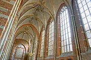 Nederland, Deventer, 19-8-2018 Interieur van de Lebuinuskerk . Foto: Flip Franssen