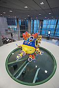 "Linz, Cultural Capital of Europe 2009. Ars Electronica Center. Level 0.5: Showcase. Robots ""Eggy Boy"" & ""4D Fish"" by Yoichiro Kawaguchi."