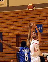 Basketball<br /> Final4 BLNO 2014<br /> Semifinale<br /> Gimle v Tromsø Storm<br /> 05.04.2014<br /> Foto: Morten Olsen, Digitalsport<br /> <br /> Gary Wallace (8) - Tromsø<br /> Dejan Majstorovic (8) - Gimle