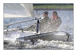 Largs Regatta Week 2011..Catamaran 458 DROOKIT Hurricane 5.9 SX Dave Kent and Ian Kent