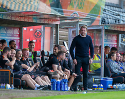 Dundee United's manager Robbie Neilson. Dundee United 4 v 1 Inverness Caledonian Thistle, first Scottish Championship game of season 2019-2020, played 3/8/2019 at Tannadice Park, Dundee.