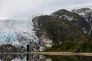 Patagonia, cruising with Ventus Australis. excursion to Aguila Glacier