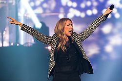 June 25, 2017 - Leeds, West Yorkshire, UK - Leeds , UK . Canadian singer Celine Dion performs at the First Direct Arena in Leeds in the first of two shows relocated from the Manchester Arena following a murderous terror attack at the Manchester venue on 22nd May 2017  (Credit Image: © Joel Goodman/London News Pictures via ZUMA Wire)