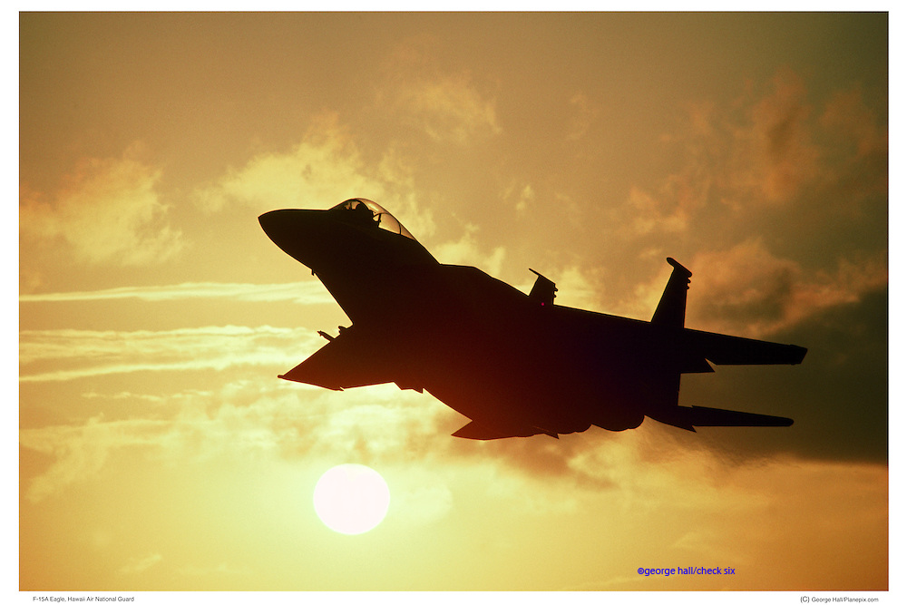 F-15A at sunset