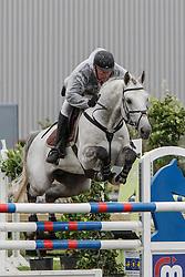Geerts Luc (BEL) - Gentleman<br /> 6j springen<br /> Nationale wedstrijd LRV jonge paarden - Lommel 2012<br /> © Dirk Caremans
