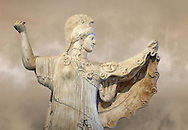 Roman statue of goddes Athena from the tablinum of the Villa of the Papyri in Herculaneum, Museum of Archaeology, Italy ..<br /> <br /> If you prefer to buy from our ALAMY STOCK LIBRARY page at https://www.alamy.com/portfolio/paul-williams-funkystock/greco-roman-sculptures.html . Type -    Naples    - into LOWER SEARCH WITHIN GALLERY box - Refine search by adding a subject, place, background colour, museum etc.<br /> <br /> Visit our ROMAN WORLD PHOTO COLLECTIONS for more photos to download or buy as wall art prints https://funkystock.photoshelter.com/gallery-collection/The-Romans-Art-Artefacts-Antiquities-Historic-Sites-Pictures-Images/C0000r2uLJJo9_s0