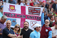 West Ham fans during the Premier League match between Arsenal and West Ham United at the Emirates Stadium, London, England on 22 April 2018. Picture by Bennett Dean.