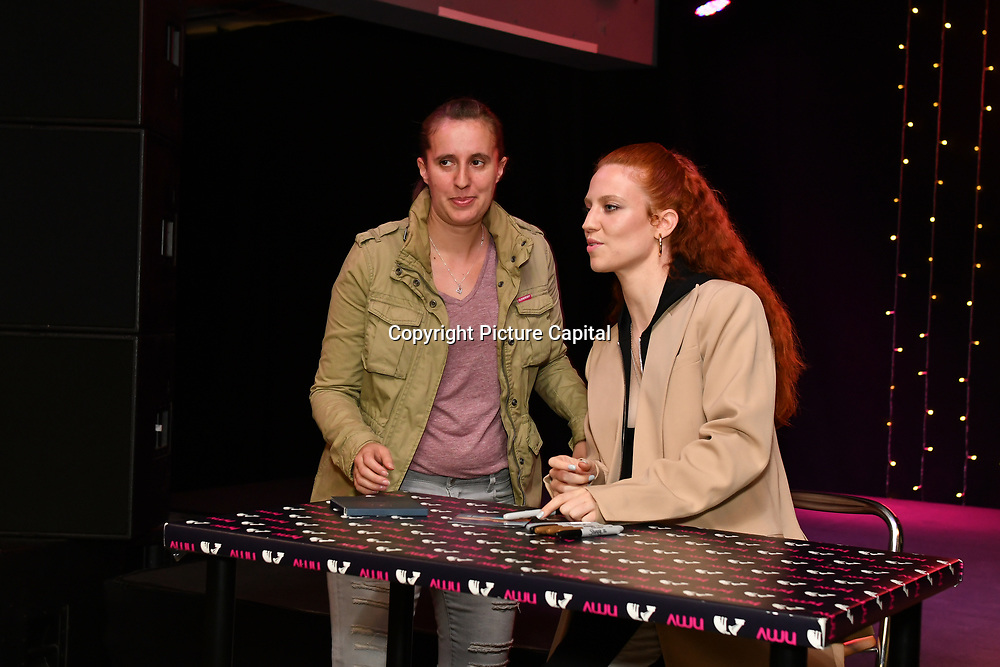 Jess is promoting her new album Always In Between singing autography at HMV 363 OXFORD STREET, London, UK. 12 October 2018.