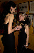 Daphne Guinness and L'Wren Scott. Artists Independent Networks  Pre-BAFTA Party at Annabel's co hosted by Charles Finch and Chanel. Berkeley Sq. London. 11 February 2005. . ONE TIME USE ONLY - DO NOT ARCHIVE  © Copyright Photograph by Dafydd Jones 66 Stockwell Park Rd. London SW9 0DA Tel 020 7733 0108 www.dafjones.com