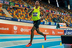 Rafael Raap in action on 1000 meters during the Dutch Athletics Championships on 14 February 2021 in Apeldoorn