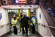 Armed police enter the station - Armed police flood the Oxford Circus area after an incident caused the station to be cleared.