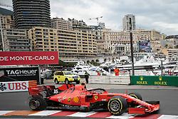 May 26, 2019 - Monte Carlo, Monaco - xa9; Photo4 / LaPresse.26/05/2019 Monte Carlo, Monaco.Sport .Grand Prix Formula One Monaco 2019.In the pic: Charles Leclerc (MON) Scuderia Ferrari SF90 with a puncture (Credit Image: © Photo4/Lapresse via ZUMA Press)