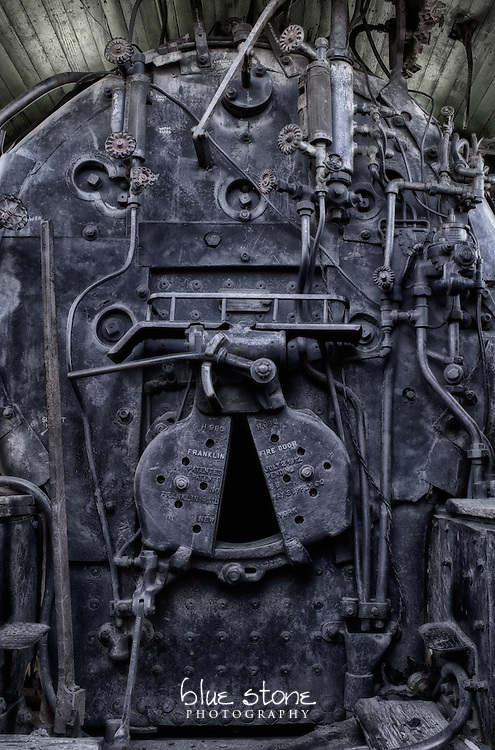 The coal furnace of a historic train engine that was used for mining in New Mexico and contributed to progress in the southwest.<br /> <br /> Wall art is available in metal, canvas, float wrap and standout. Art prints are available in lustre, glossy, matte and metallic finishes.