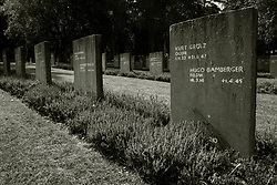 The graves of German Soldiers from world war two in the German Military Cemetery at Cannock Chase in Staffordshire which contains almost 5000 burials from both the first and second world wars of German and Austrian nationals and a small number of Ukrainians<br /> <br /> 17 September 2020<br /> <br /> www.pauldaviddrabble.co.uk<br /> All Images Copyright Paul David Drabble - <br /> All rights Reserved - <br /> Moral Rights Asserted -
