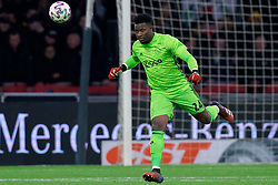 André Onana #24 of Ajax in action during the Dutch Eredivisie match round 25 between Ajax Amsterdam and AZ Alkmaar at the Johan Cruijff Arena on March 01, 2020 in Amsterdam, Netherlands