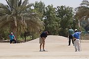 Abu Dhabi, United Arab Emirates (UAE). .March 20th 2009..Al Ghazal Golf Club..36th Abu Dhabi Men's Open Championship..Peter Shaw (middle)