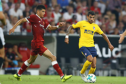 August 2, 2017 - Munich, Germany - Dominic Solanke of Liverpool and Augusto Fernandez of Atletico de Madrid during the Audi Cup 2017 match between Liverpool FC and Atletico Madrid at Allianz Arena on August 2, 2017 in Munich, Germany. (Credit Image: © Matteo Ciambelli/NurPhoto via ZUMA Press)
