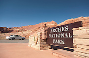Entrance too Arches National Park, Utah, United States of America