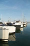 Sailing boats on water, Golfe-Juan, France