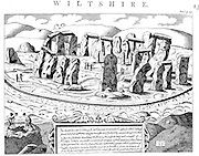 Stonehenge. Megalithic monument on Salisbury Plain, Wiltshire, England, dating from c2800 BC-c1800 BC. 18th century copperplate engraving.