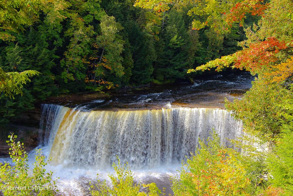 """Upper Tahquamenon Mist"" 2<br /> <br /> Beautiful Upper Tahquamenon Falls in autumn! A light mist rises from the falls!<br /> <br /> Waterfalls by Rachel Cohen"