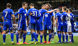 18 March 2017 - Skybet Championship - Birmingham City v Newcastle United - Lukas Jutkiewicz of Birmingham City organises a huge Birmingham City wall - Photo: Paul Roberts / Offside